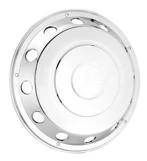 """WHEEL TRIM - 22.5"""" s/s wheel cover / simulator (with 10 holes for 10 studs) (each)"""