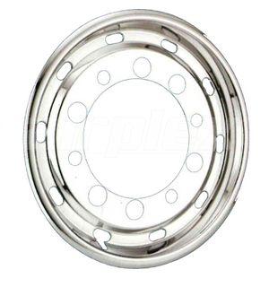 "WHEEL TRIM - 22.5"" s/s wheel liner for steel 10-stud (22.5"" x 11.75)  30mm inset (each)"