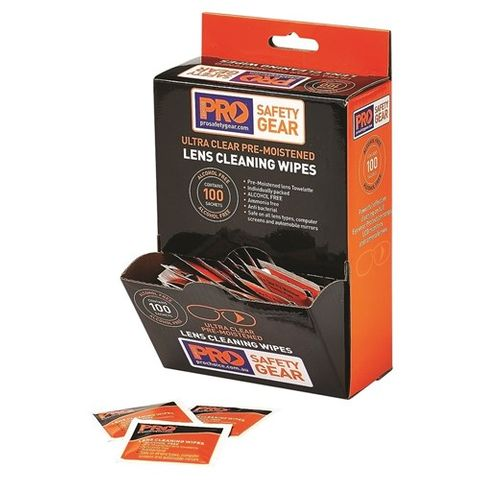 LENS CLEANING WIPES 100BOX