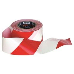 RED & WHITE TAPE 100M x 75MM