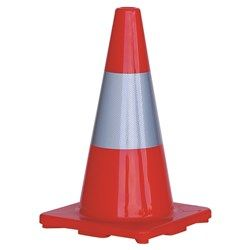 450mm ORANGE REFL.TRAFFIC CONE