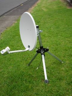 SATELLITE MOUNT, DISH AND CABLE
