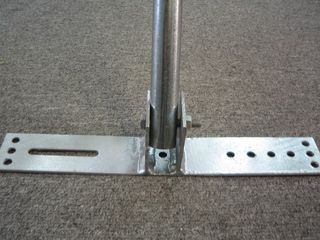1M ANGLED ROOF MOUNT HINGED BASE
