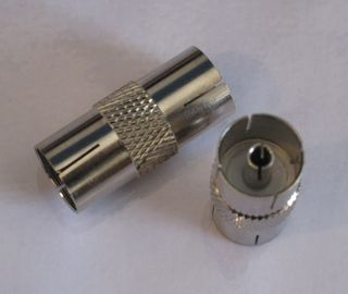 COAXIAL JOINER, SOCKET TO SOCKET
