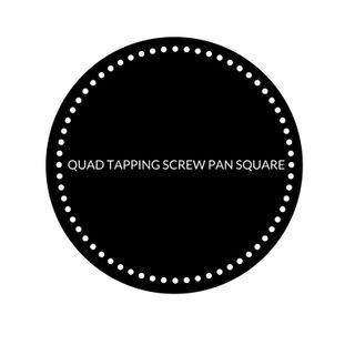 QUAD TAPPING SCREW PAN SQ