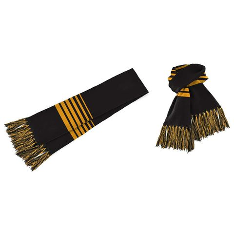 Acrylic Scarf Black/Gold