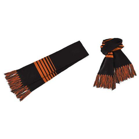 Acrylic Scarf Black/Orange