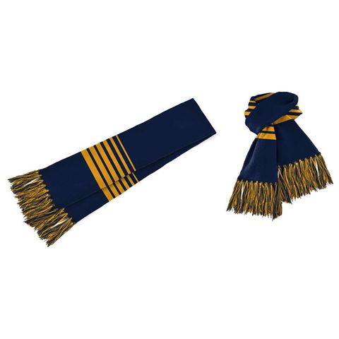 Acrylic Scarf Navy/Gold