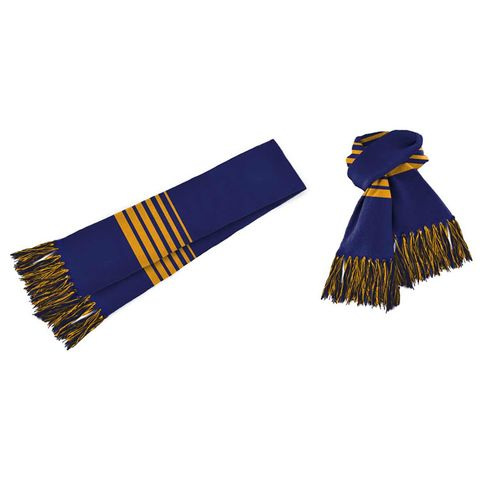 Acrylic Scarf Royal/Gold