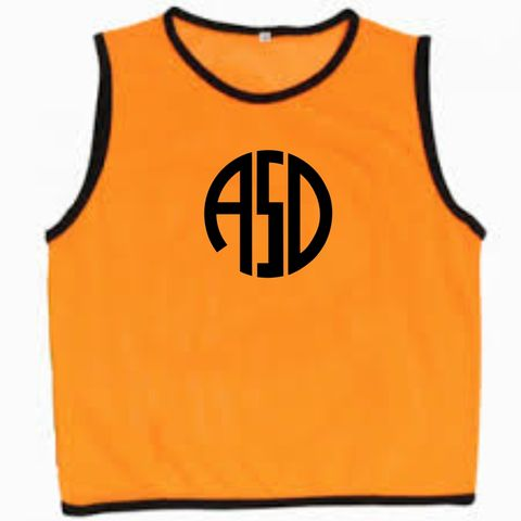 Mesh Training Bib Fluro Orange