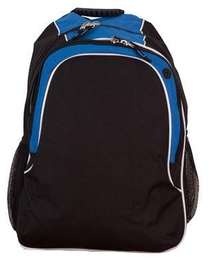 Winner Backpack Blk/Wht/Aqu