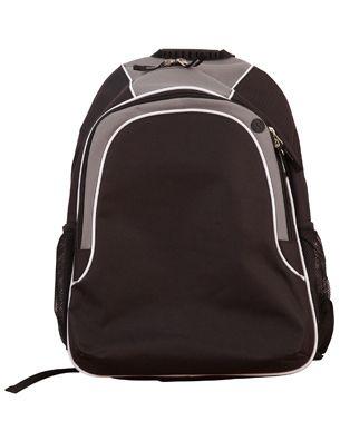 Winner Backpack Blk/Wht/Gry