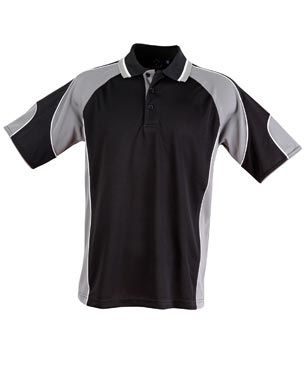Alliance Mens Polo Blk/Ash