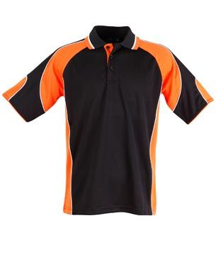 Alliance Mens Polo Blk/Org