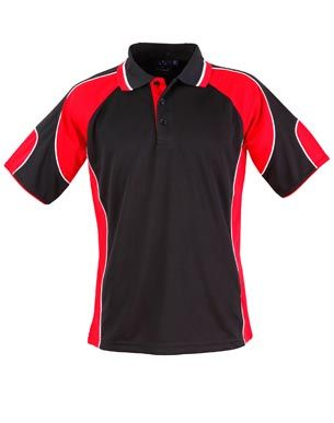 Alliance Mens Polo Blk/Red