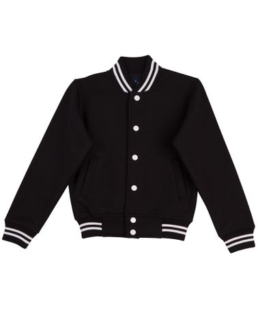 Letterman Kids Jacket Blk/Wht