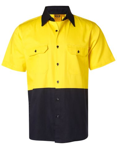 Hi-Vis S/S Safety Shirt Ylw/Nv
