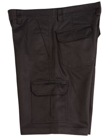 Mens Cargo Short Black