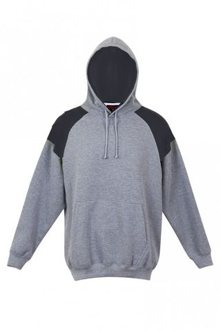 Contrast Mens Hoodie Gry/Nvy