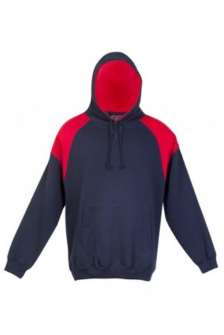 Contrast Mens Hoodie Nvy/Red