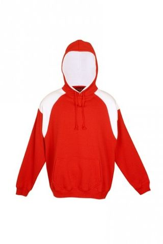 Contrast Mens Hoodie Red/Wht