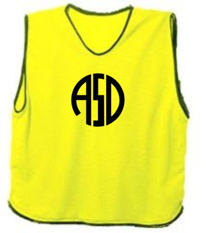 Mesh Training Bib Fluro Yellow