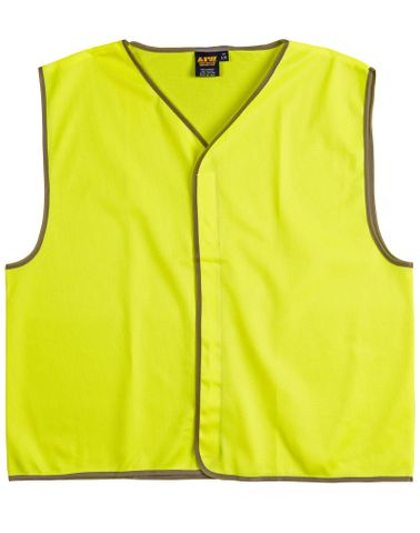 Safety Vest Adult Fluro Yellow