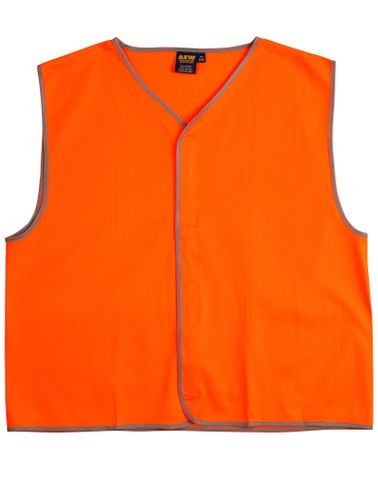 Safety Vest Adult Fluro Orange