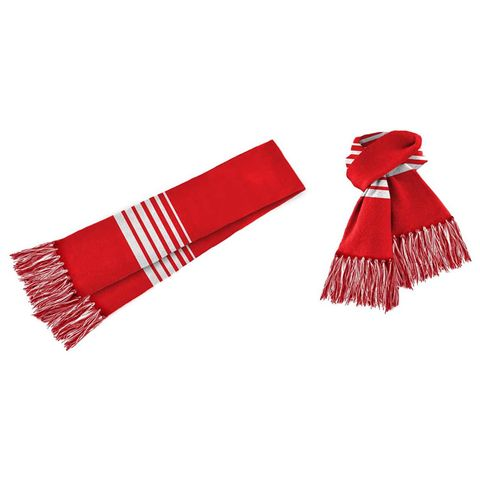 Acrylic Scarf Red/White