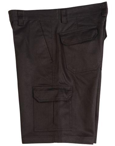 Mens Cargo Short Black