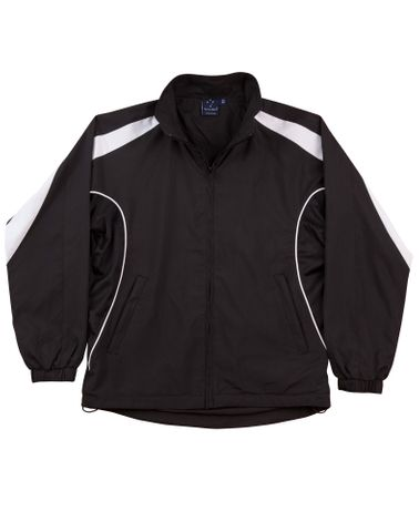 Legend Unisex Track Top Blk/Wh