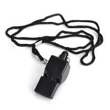 Plastic Whistle w/Lanyard