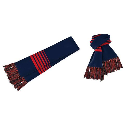 Acrylic Scarf Navy/Red