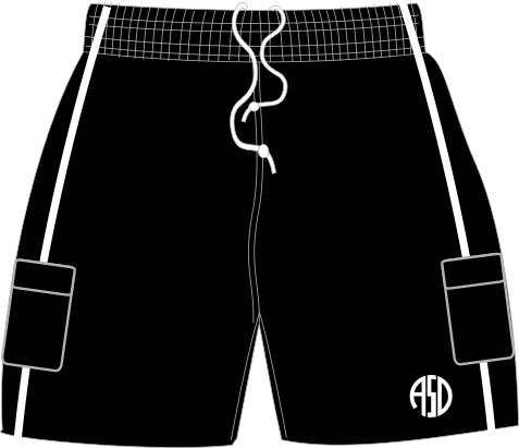 Cargo Short Black/White