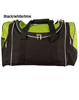 Winner Sports Bag Blk/Wht/Lme