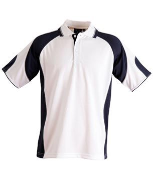 Alliance Kids Polo Wht/Nvy