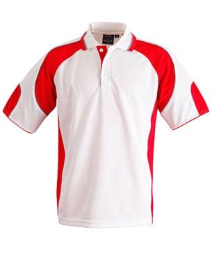 Alliance Kids Polo Wht/Red