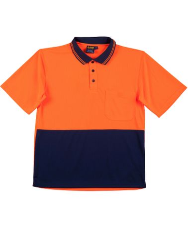 Safety Polo Fluro Orange/Navy