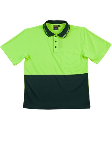 Safety Polo Fluro Ylw/Btl
