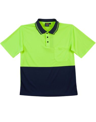 Safety Polo Fluro Yellow/Navy