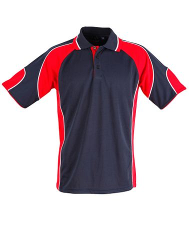 Alliance Ladies Polo Nvy/Red
