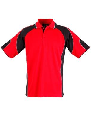 Alliance Ladies Polo Red/Blk