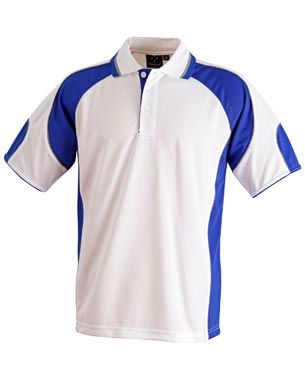 Alliance Ladies Polo Wht/Ryl