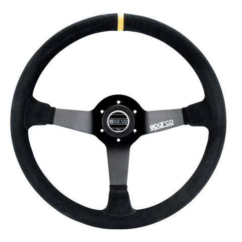 Sparco R368 Suede 380mm Racing Steering Wheel