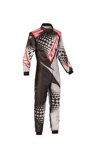 Omp Ks-2r Karting Suit Blk/silver/red 52