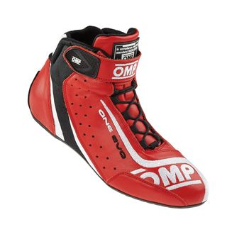 Omp One-evo Race Boots Red/blk/wh 40