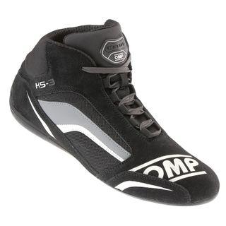 Omp Ks-3 Karting Boots Blk/white/anth 38