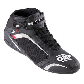 Omp Ks-2 Karting Boots Black/white/red 4