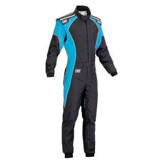 Omp Ks-3 Fluro Karting Suit Black/fluro