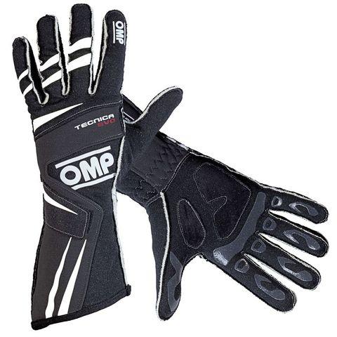 OMP Tecnica Evo Gloves Black - Small